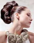 acconciature festose - up-style with chignon