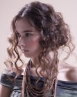 acconciature per le feste - updo for long curly hair