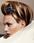 acconciature raccolte - updo with a hairpin