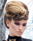 acconciature moderne – updo with frontal braid