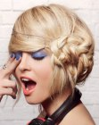 acconciature moderne – updo with side braid