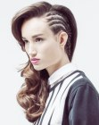 acconciature moderne – cornrow braids
