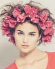 acconciature moderne – party hair with flowers