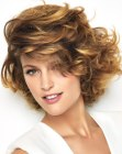 acconciature corte - short hair with thick curls