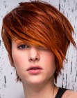 capelli corti - short cut with a side fringe