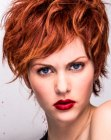 capelli corti - short red hair with layers