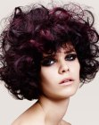 capelli corti - purple hair with curls