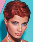 acconciature corte – short hair with finger waves