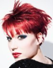 capelli corti per donne – punk style for red hair