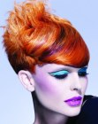 capelli corti - contrasting hair hues