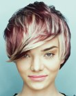tagli corti – short haircut with multiple hair colors