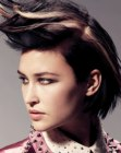 tagli di capelli – hair with color streaks