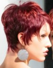 tagli corti - red hair with orange highlights