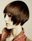 tagli corti moderni - short razored hair cut