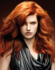 capelli lunghi - long copper colored hair