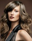 capelli lunghi - long hair with a thick side fringe
