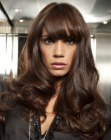 capelli lunghi - long hair with modern bangs