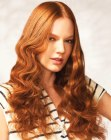 tagli lunghi - long copper hair with curls