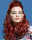 capelli lunghi – long and curly red hair