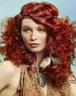 capelli lunghi - red hair with a hair band