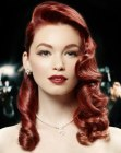 capelli lunghi – vintage Hollywood hairstyle