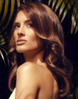 capelli lunghi - hazelnut toned highlights