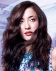 capelli lunghi - long hair with a natural flow