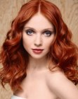 capelli lunghi - natural look with red hair