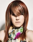 tagli lunghi - long straight hair with bangs