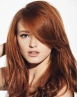tagli lunghi - long hair wit red tones