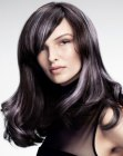 capelli lunghi - hair with silver streaks