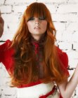 acconciature per capelli lunghi – very long red hair