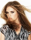 tagli di capelli lunghi - long hair with crimping