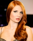 capelli lunghi - glowing red hair