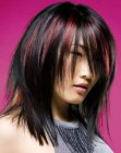 tagli per capelli lunghi – colored Asian hair