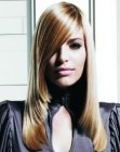 tagli lunghi – tapered blonde hair
