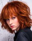 tendenze per capelli - mid-length bob for red hair