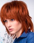 tendenze per capelli - textured bob for red hair