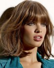 tagli moderni – long bob with thick bangs