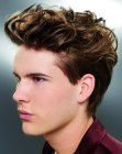 capelli per uomini- lifted top hair for men