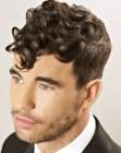 capelli per uomini- vintage hair for men with curls