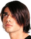 acconciature uomo – side-swept men's hair